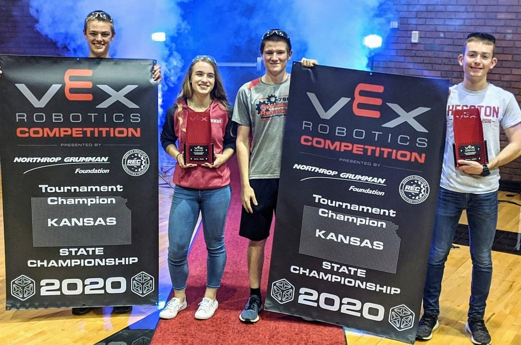 Drew/Emily and Jeb/Logan your Robotics State Champs!