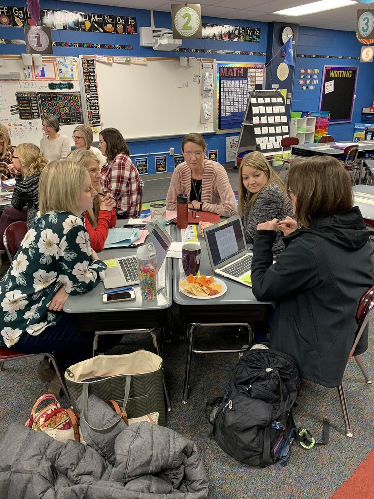 HES teachers collaborating during a professional development event