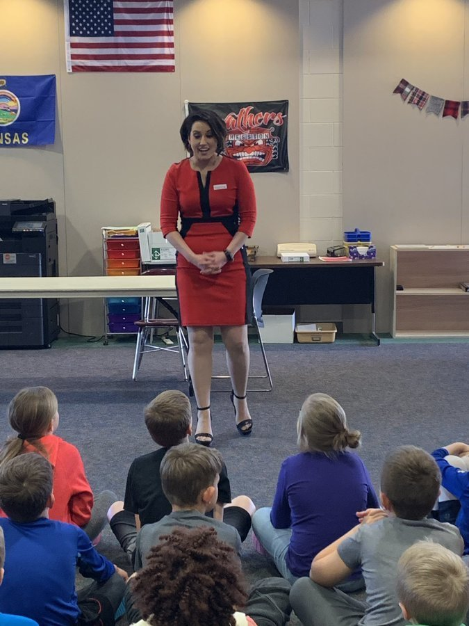 Students learn more about the weather from a real meteorologist